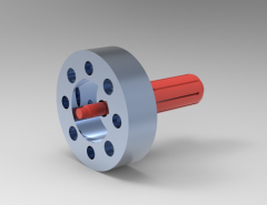 Solid-works 3D CAD Model of Clamping chucks, Socket size=20,70-21,90Aa=70Lges=84.65