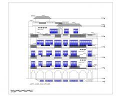 アジアンスタイルの2D立面図(高層商業ビル)国際標準タイプ3-3 .dwg