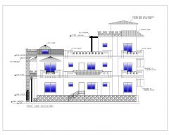 Asian Style 2D Elevations (Multistoried Residential Building) International Standard Type 10-2 .dwg