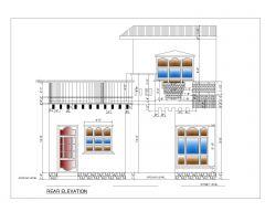 Elevaciones 2D de estilo asiático (edificio residencial de varios pisos) Norma internacional tipo 18-2 .dwg