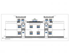 Asian Style 2D Elevations (Multistoried Residential Building) International Standard Type 28-2 .dwg