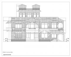 Asian Style 2D Elevations (Multistoried Residential Building) International Standard Type 29 .dwg
