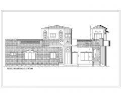 Двумерные фасады азиатского стиля (многоэтажные жилые дома), международный стандарт, тип 3 .dwg
