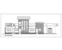 Asian Style 2D Elevations (Multistoried Residential Building) International Standard Type 36 .dwg