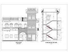 2D-фасады азиатского стиля (многоэтажные жилые дома), международный стандарт, тип 6 .dwg