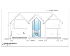 Australian Style House Architectural Design Cross Section B .dwg