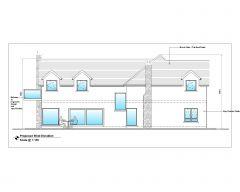 Diseño arquitectónico de la casa de estilo australiano West Elevation .dwg