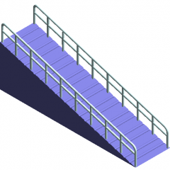 Accessible ramp revit family