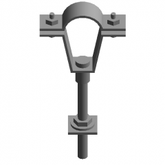 Anchor bolts to fix the riser revit family