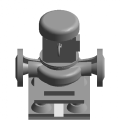 Anti-fouling centrifugal pump for bedroom revit family