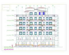 Apartment Building Elevations with Multiple Levels. dwg-2