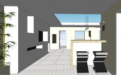 Apartment mini bar for 2 people design skp