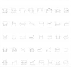 Sessel Erhöhungen CAD-Sammlung dwg