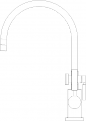 Automatic Built in Heater Faucet Right Side Elevation dwg Drawing