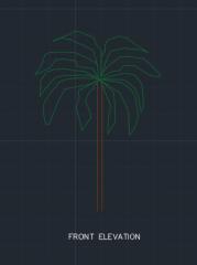 Banana Plant for Garden 00001 dwg Drawing