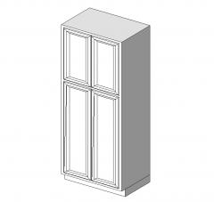 Base Cabinet 4 Door 36x24x84 revit model