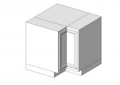 Base Cabinet Corner 36x24x34 revit model