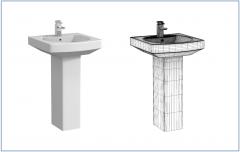 Full pedestal basin 3ds max model