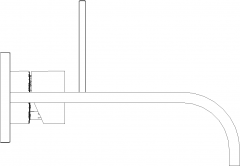 Bathroom Wall Mounted Faucet Left Side Elevation dwg Drawing