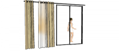 浴室カーテン(333)SKP