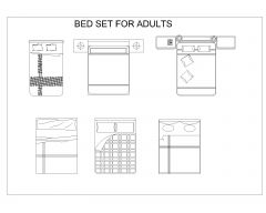 Bed Set for Adults .dwg_5