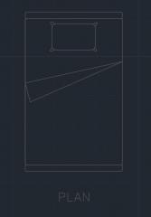 ベッドルーム00010 dwg図面のベッドセット