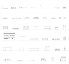Bed designs CAD collection dwg