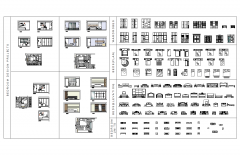 Bedroom furniture CAD block collection dwg