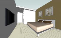 Дизайн спальни с шкафом из мдф скп