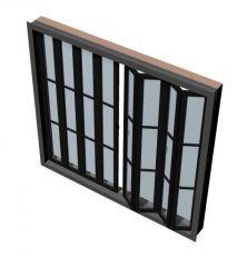 Moderately designed bifold door 3d model .3dm format