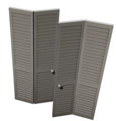 Angled bifold door hinged 3d model .3dm format