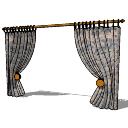 大きなカーテン(202)SKP