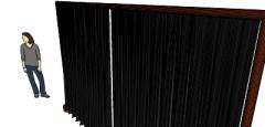 Black long curtains(111) skp