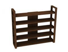 Wooden book rack modern design 3d model .3dm format