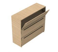 Small wooden rack for book 3d model .3dm format