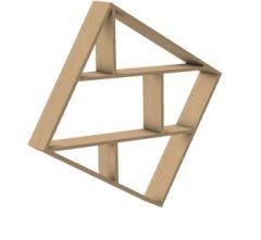 Modern aesthetic designed book rack 3d model .3dm format