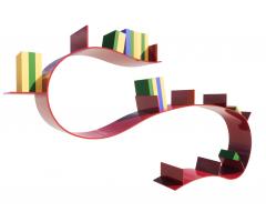 Plastic Book Shelf Wave revit family