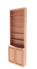 Book Shelving with 2 hinge door revit family