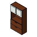书柜可写铰链门横向文件全背Revit