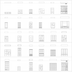 Bookcases and bookshelves CAD collection dwg