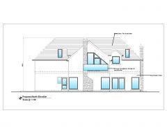 British Standard Smart House Design Elevation .dwg-C