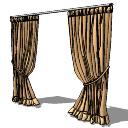 Bronze curtains(187) skp