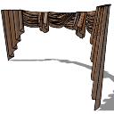 Brown beauty curtains(156) skp