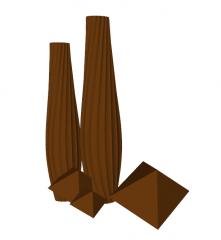 Brown ceramic vase skp