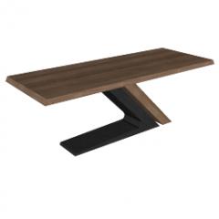 クロスフレーミングskpの茶色のテーブル
