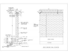 Compound Wall (Brick Masonry) with Drain & Fence Top Details .dwg