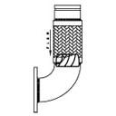 CRV_Flex Metraflex Groove End_150_Plate_Flange_for Connecting to_A_L_R_Elbow Revit