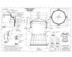 Curb Cap Open Ceiling Single Glazed Dome Amplifier .dwg