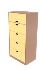 Cabinet File - Lateral 5 Drawers revit family