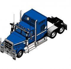 Revit Family Plant VEHICLE Camion magnum truck 7844